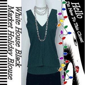 White House Black Market Holiday Blouse-XS